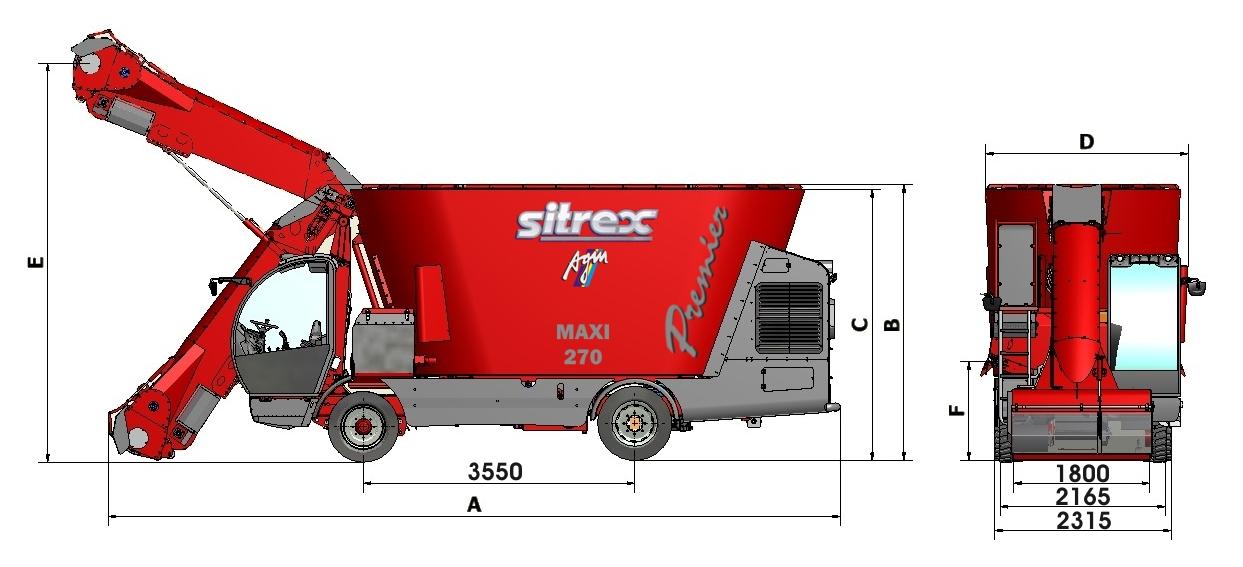 922f33cdefb2792b0f0f72965146208f MD5 maxi TEC AGM Миксер кормораздатчик Sitrex Premier MAXI 170